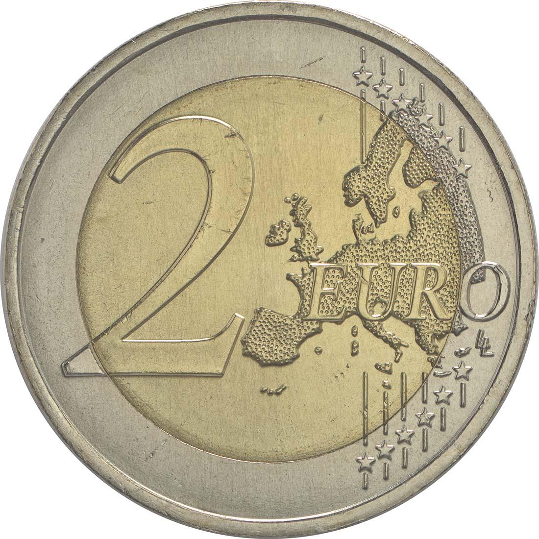 Bild der Vorderseite :Portugal - 2 Euro 50 Jahre Brücke des 25. Aprils  2016 bfr