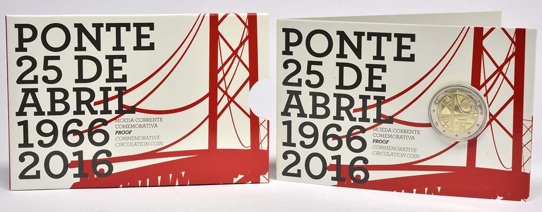 Lieferumfang:Portugal : 2 Euro 50 Jahre Brücke des 25. Aprils  2016 PP