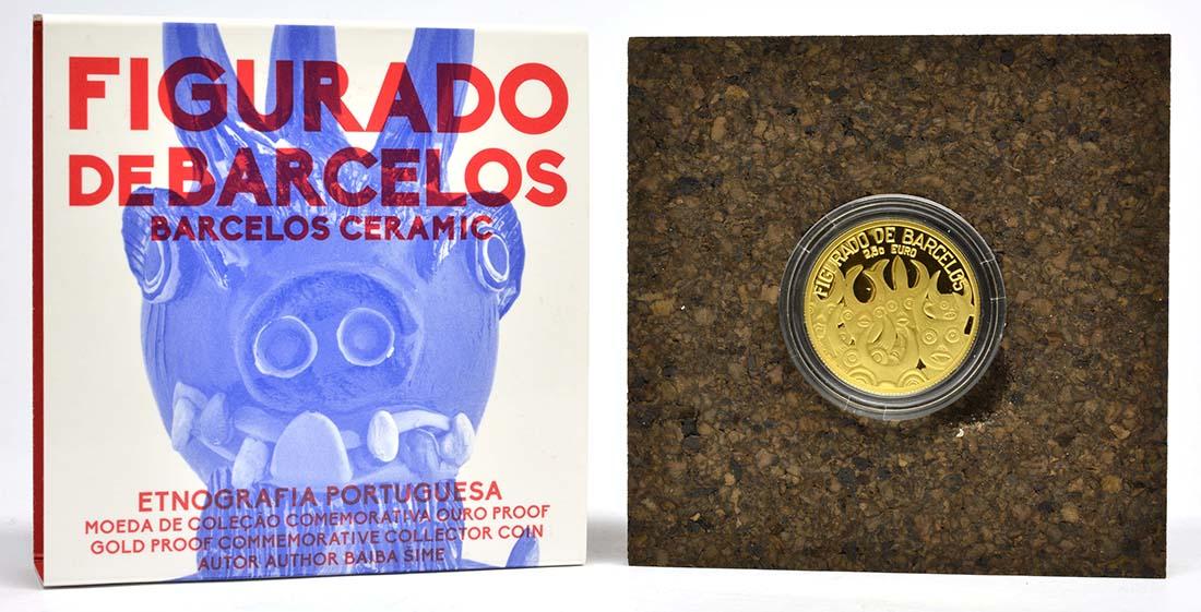 Lieferumfang:Portugal : 2,5 Euro Barcelos Keramik  2016 PP