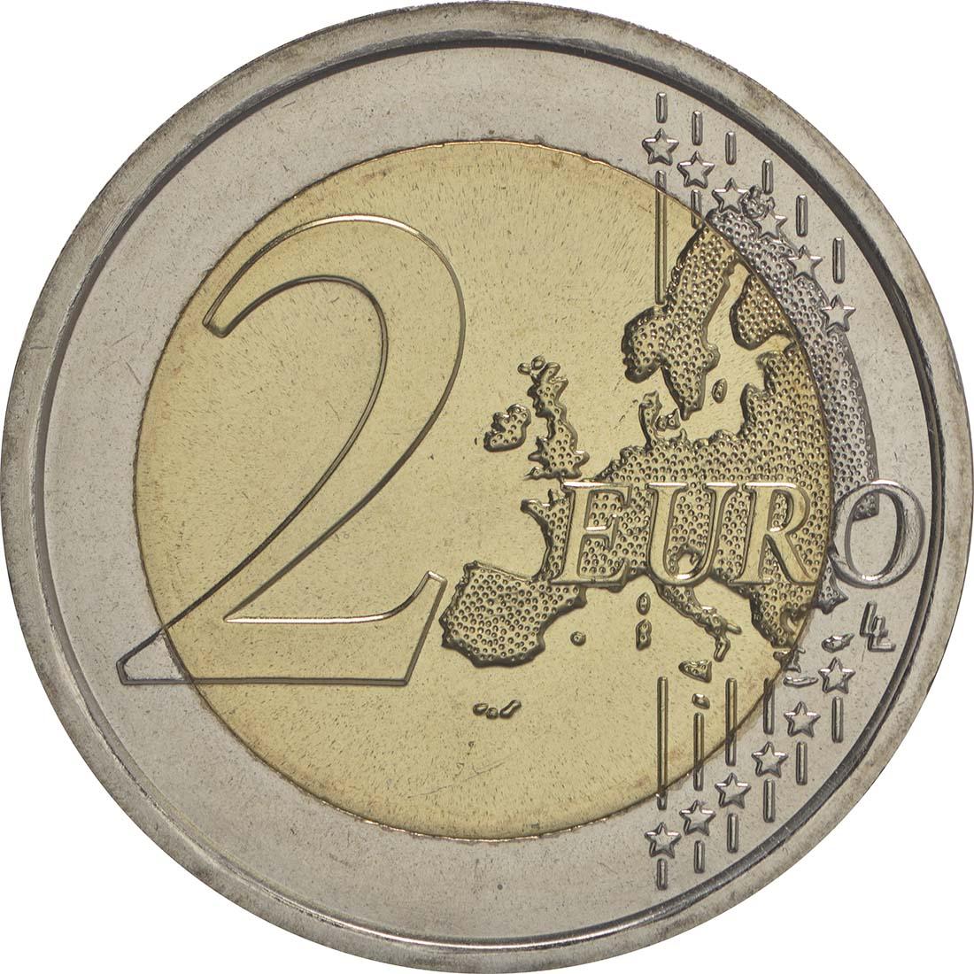 Vorderseite :Vatikan : 2 Euro 200 Jahre Vatikanisches Gendarmeriekorps  2016 Stgl.