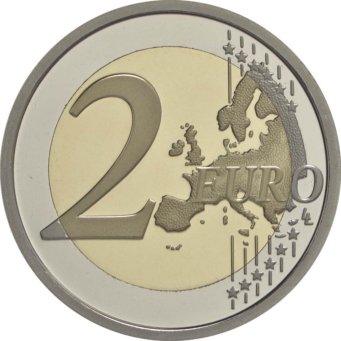 Vorderseite :Vatikan : 2 Euro 200 Jahre Vatikanisches Gendarmeriekorps  2016 PP