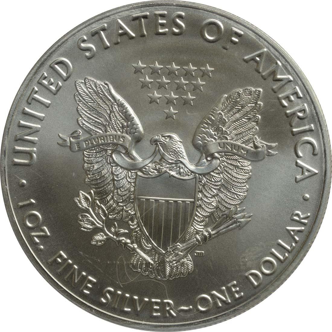 "Rückseite:USA : 1 Dollar Silber Eagle ""Vasco Nunez de Balboa""  2016 Stgl."