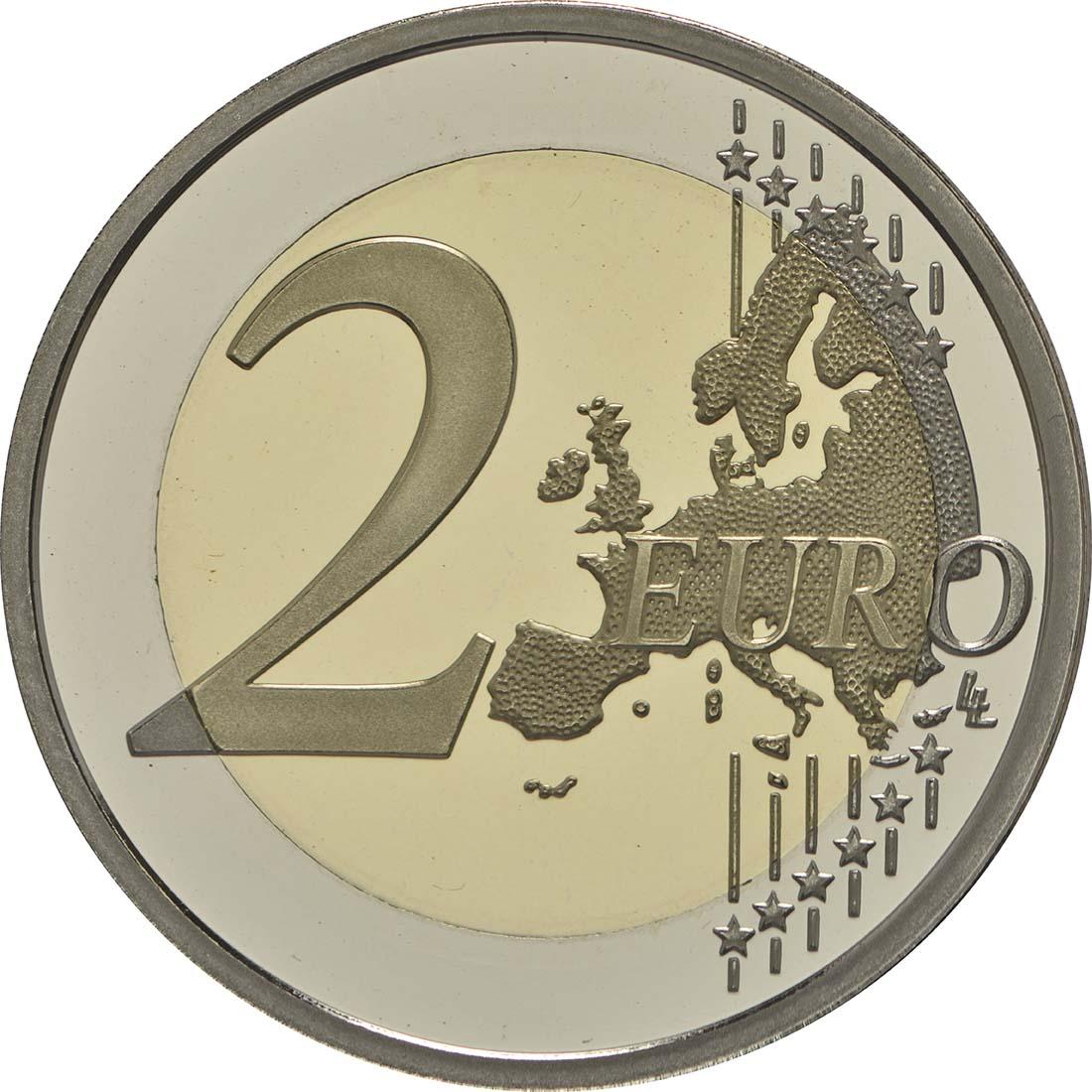 Vorderseite:Monaco : 2 Euro 150. Jahrestag der Gründung Monte Carlos durch Charles III.  2016 PP
