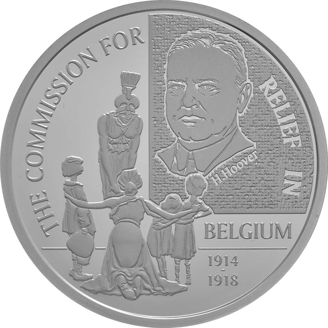 Vorderseite:Belgien : 20 Euro 100 Jahre Belgisches Hilfswerk  2016 PP