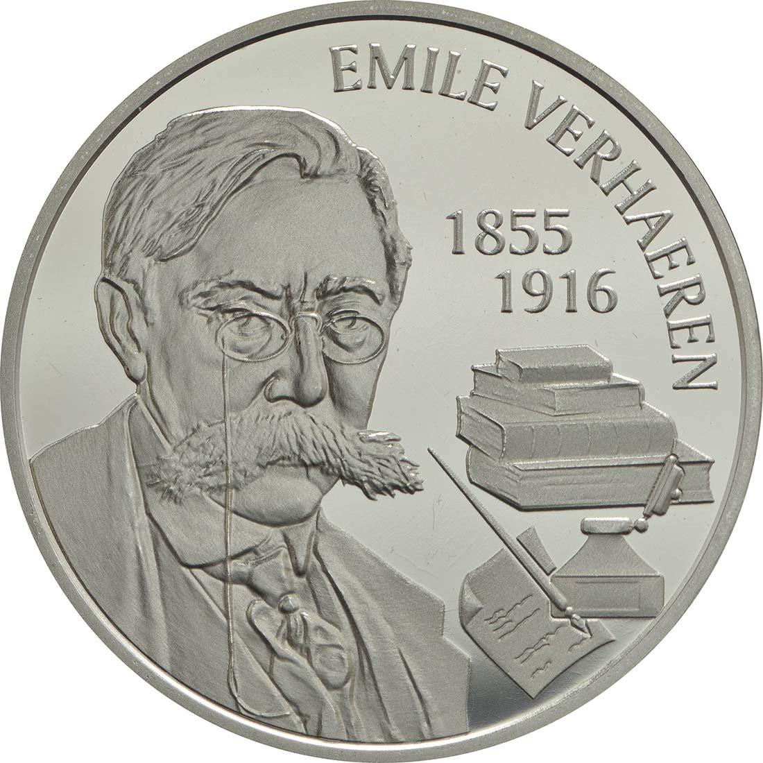 Vorderseite:Belgien : 5 Euro Emile Verhaeren  2016 PP