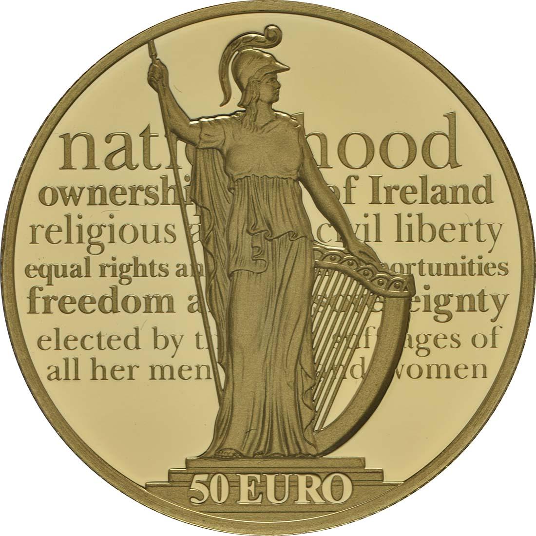 Vorderseite:Irland : 50 Euro 100 Jahre Osteraufstand 1916  2016 PP