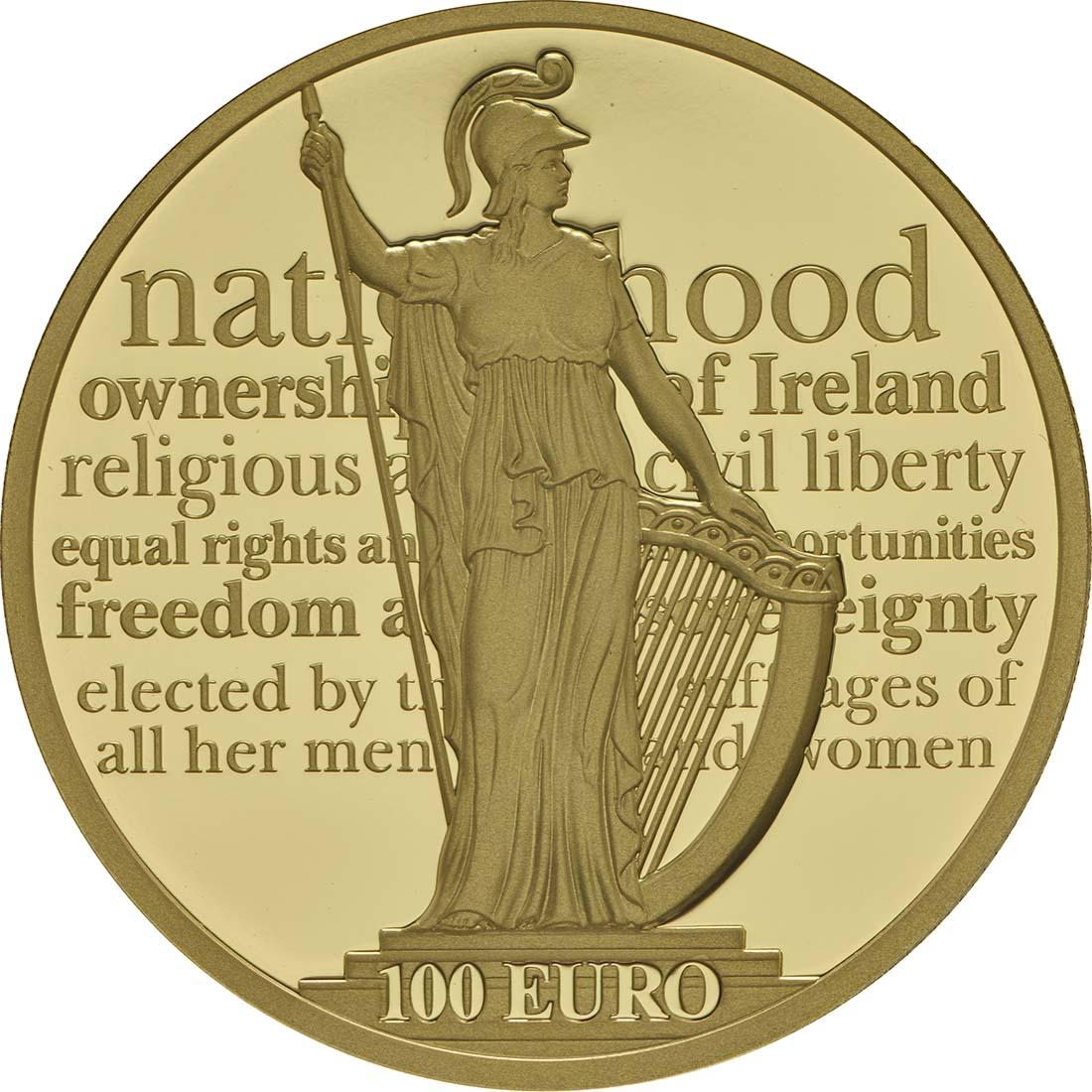 Vorderseite:Irland : 100 Euro 100 Jahre Osteraufstand 1916  2016 PP