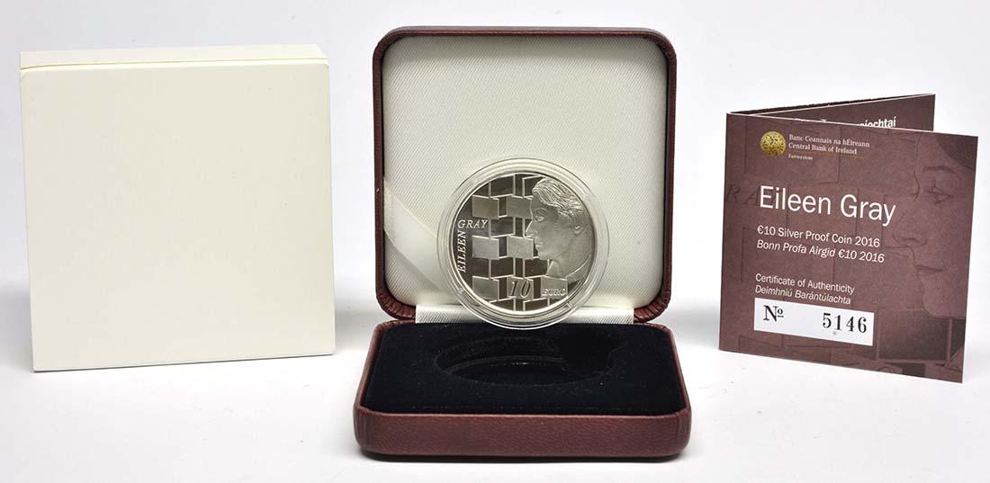 Lieferumfang:Irland : 10 Euro Eileen Gray  2016 PP