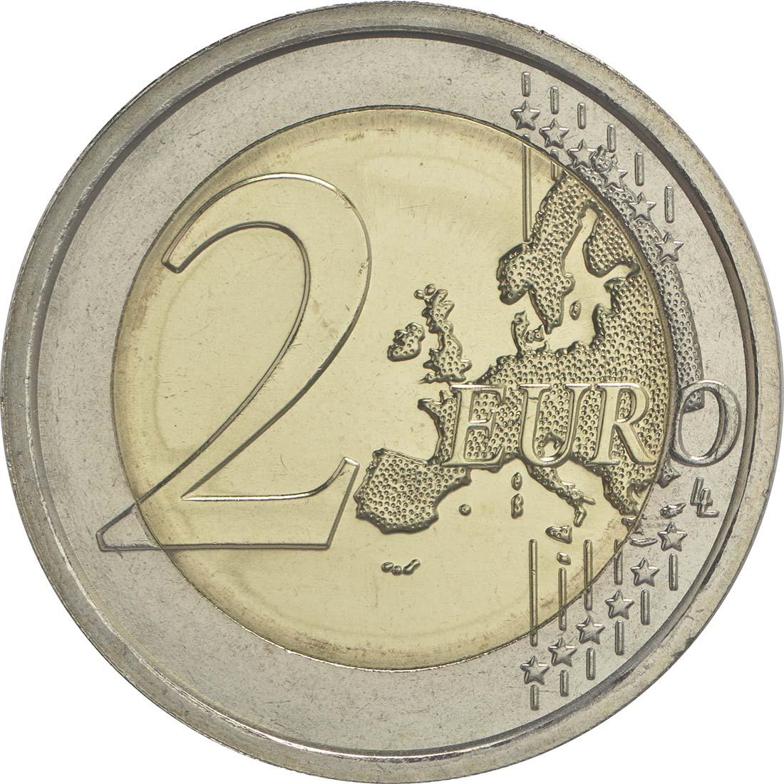 Vorderseite :Italien : 2 Euro 2200. Todestag von Titus Maccius Plautus  2016 bfr