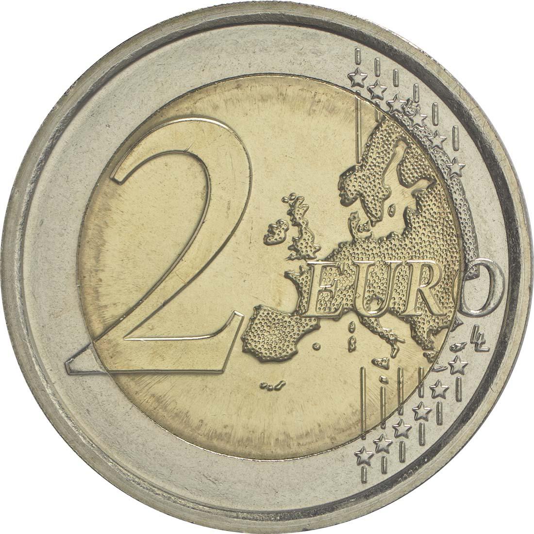Bild der Vorderseite :Italien - 2 Euro Donatello Bardi  2016 bfr