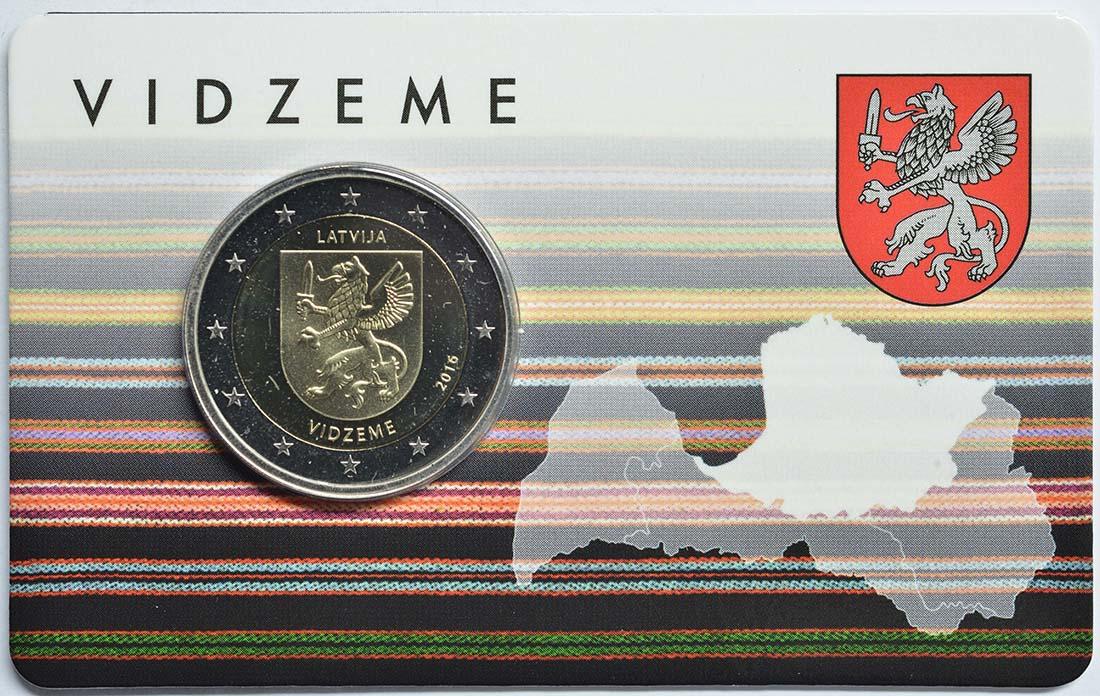 Lettland : 2 Euro Vidzeme  2016 Stgl.