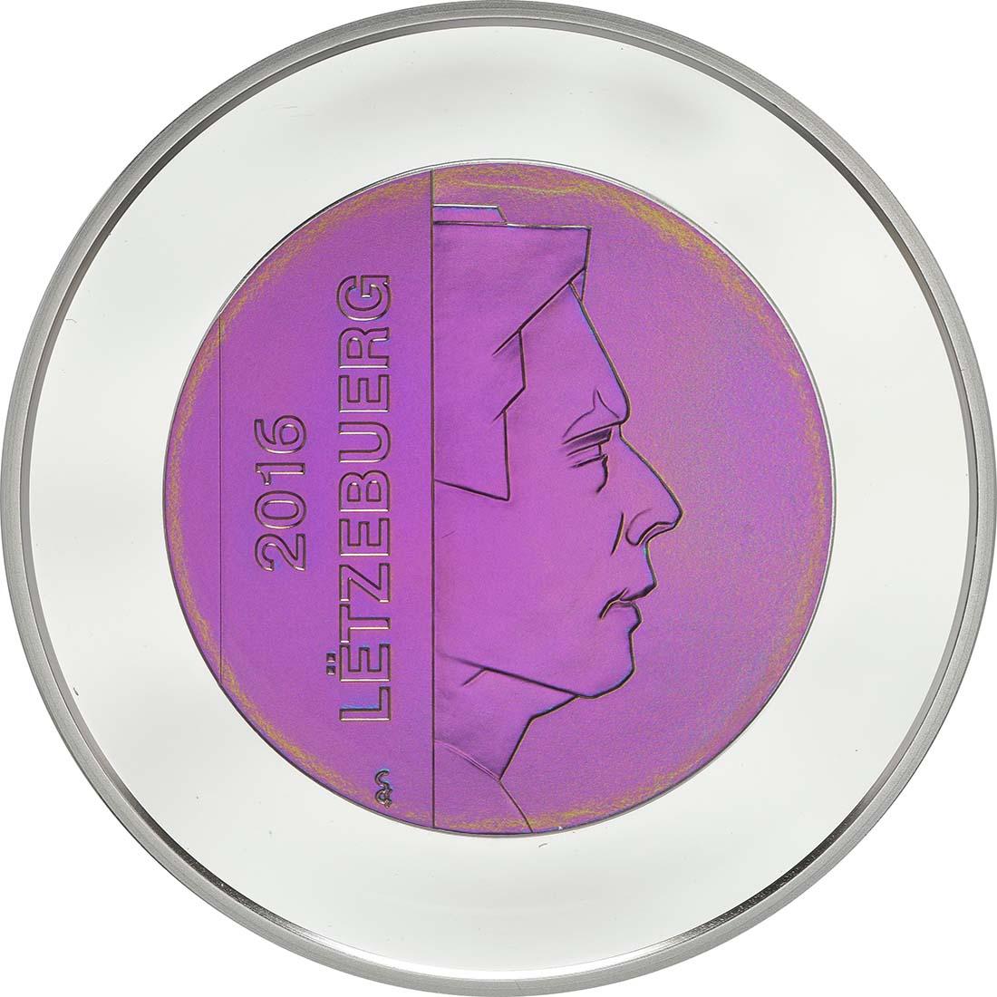Vorderseite:Luxemburg : 5 Euro Burg Clervaux  2016 PP