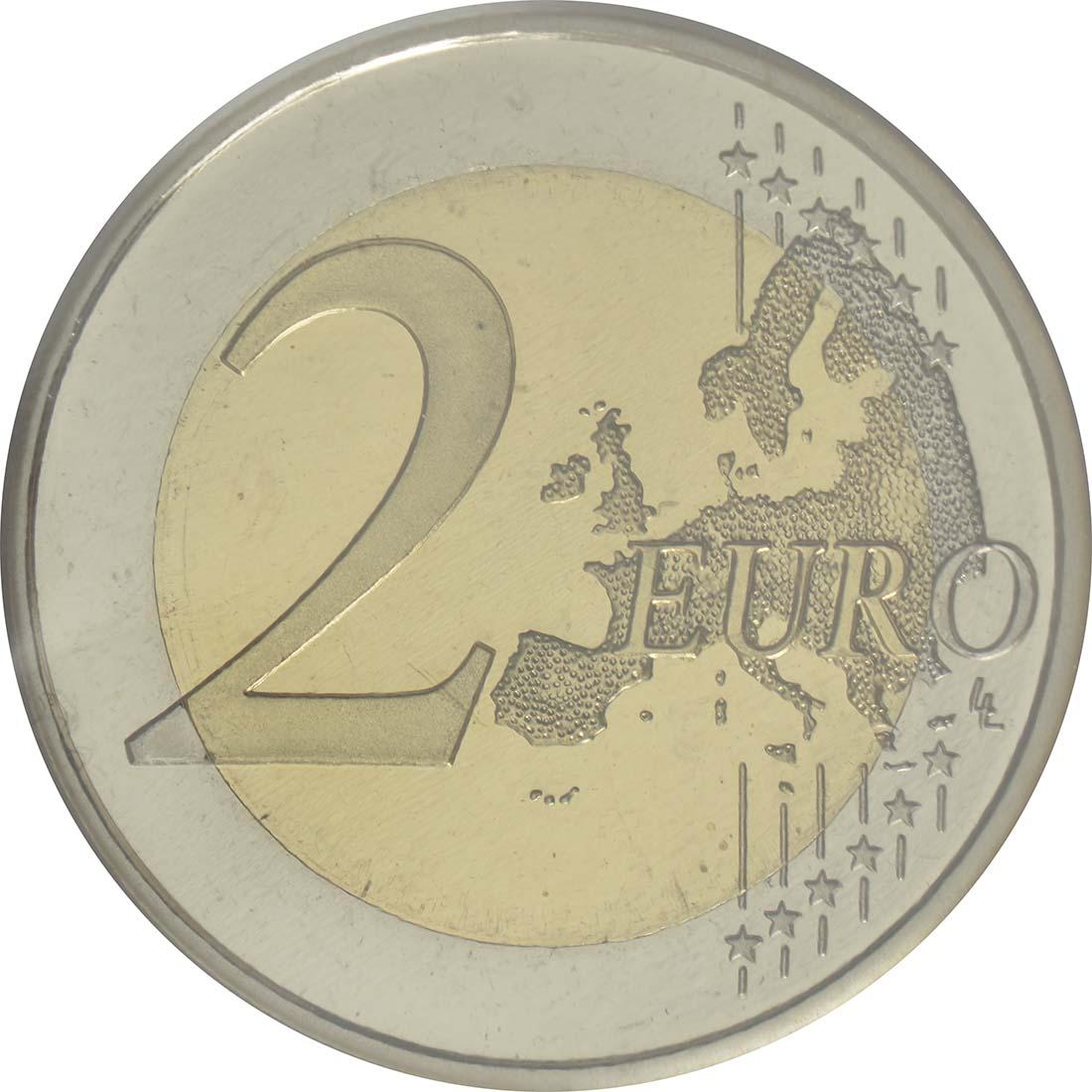 Vorderseite :Spanien : 2 Euro Altstadt und Aquädukt von Segovia  2016 PP