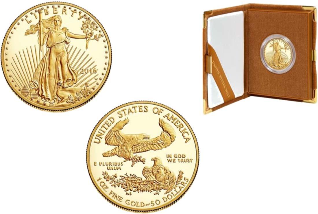 USA : 50 Dollar American Eagle 1 oz  2016 PP