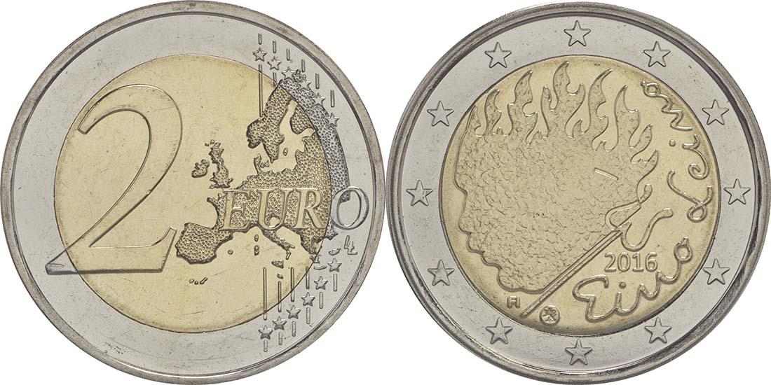 Lieferumfang:Finnland : 2 Euro Leino  2016 bfr