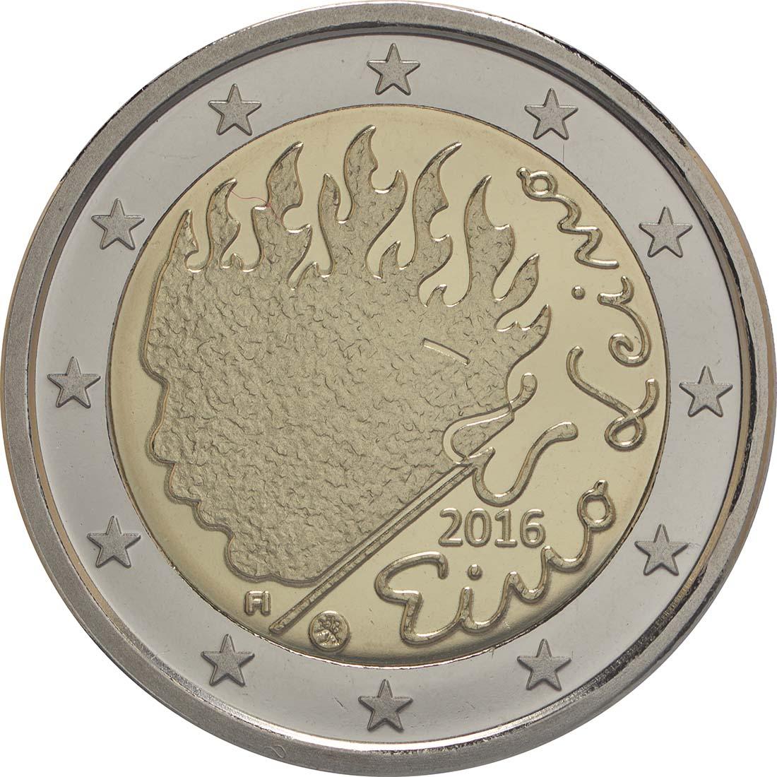 Rückseite:Finnland : 2 Euro Leino  2016 PP