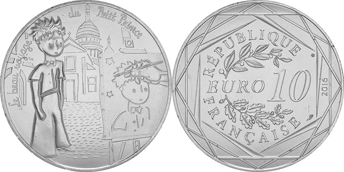 Lieferumfang:Frankreich : 10 Euro 04/24 Der kleine Prinz und der Maler am Montmartre  2016 bfr