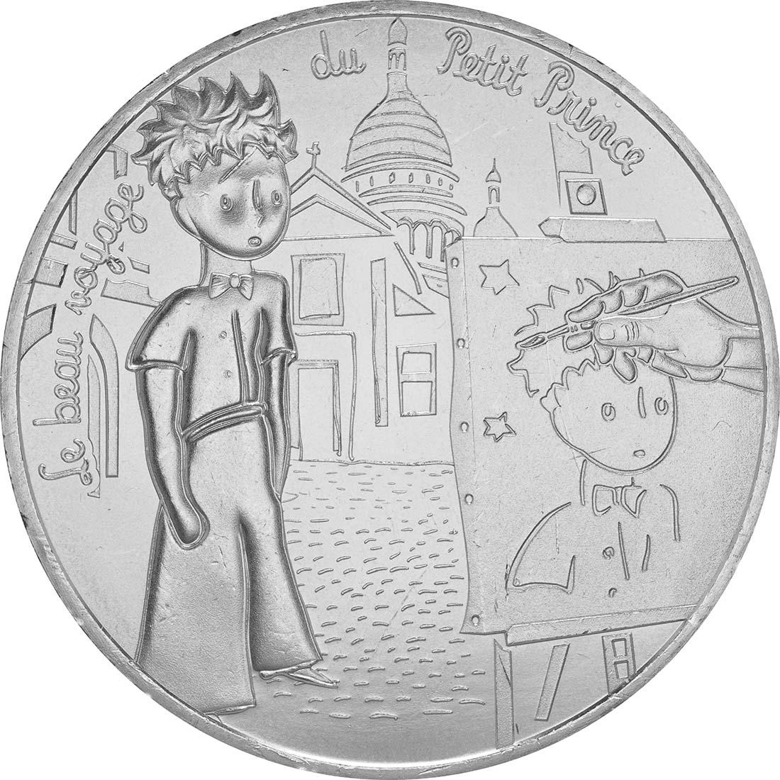 Vorderseite:Frankreich : 10 Euro 04/24 Der kleine Prinz und der Maler am Montmartre  2016 bfr