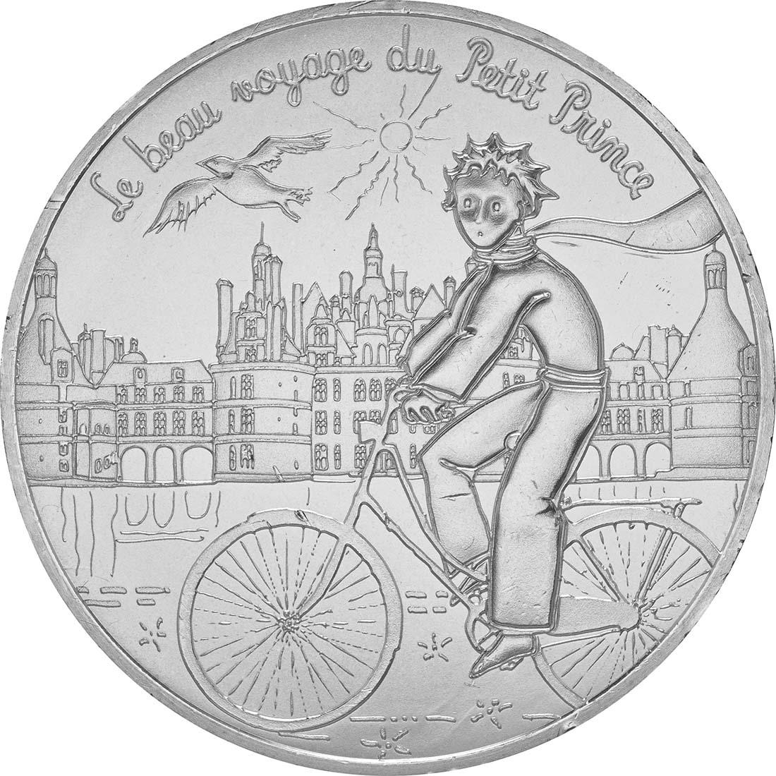 Vorderseite:Frankreich : 10 Euro 06/24 Der kleine Prinz besucht die Schlösser an der Loire  2016 bfr
