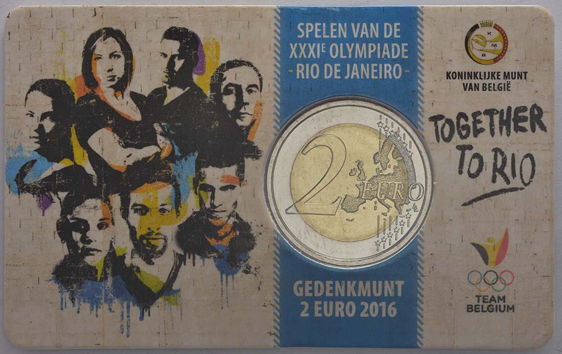 Bild des Lieferumfangs :Belgien - 2 Euro Olympische Sommerspiele 2016 in Rio de Janeiro - French Edition  2016 bfr