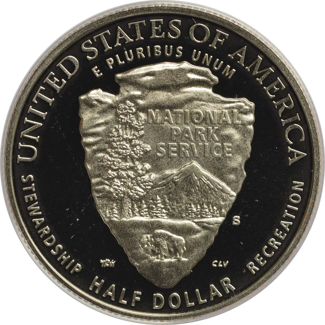 Rückseite :USA : 1/2 Dollar 100 Jahre National Park Service  2016 PP