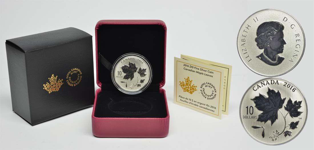 Lieferumfang:Kanada : 10 Dollar Maple Leaf - Ahornblätter  2016 Stgl.