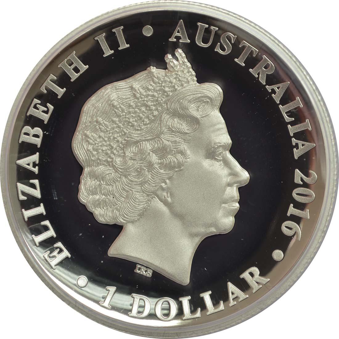 Australien 1 Dollar 90 Geburtstag Elizabeth Ii Highrelief 2016