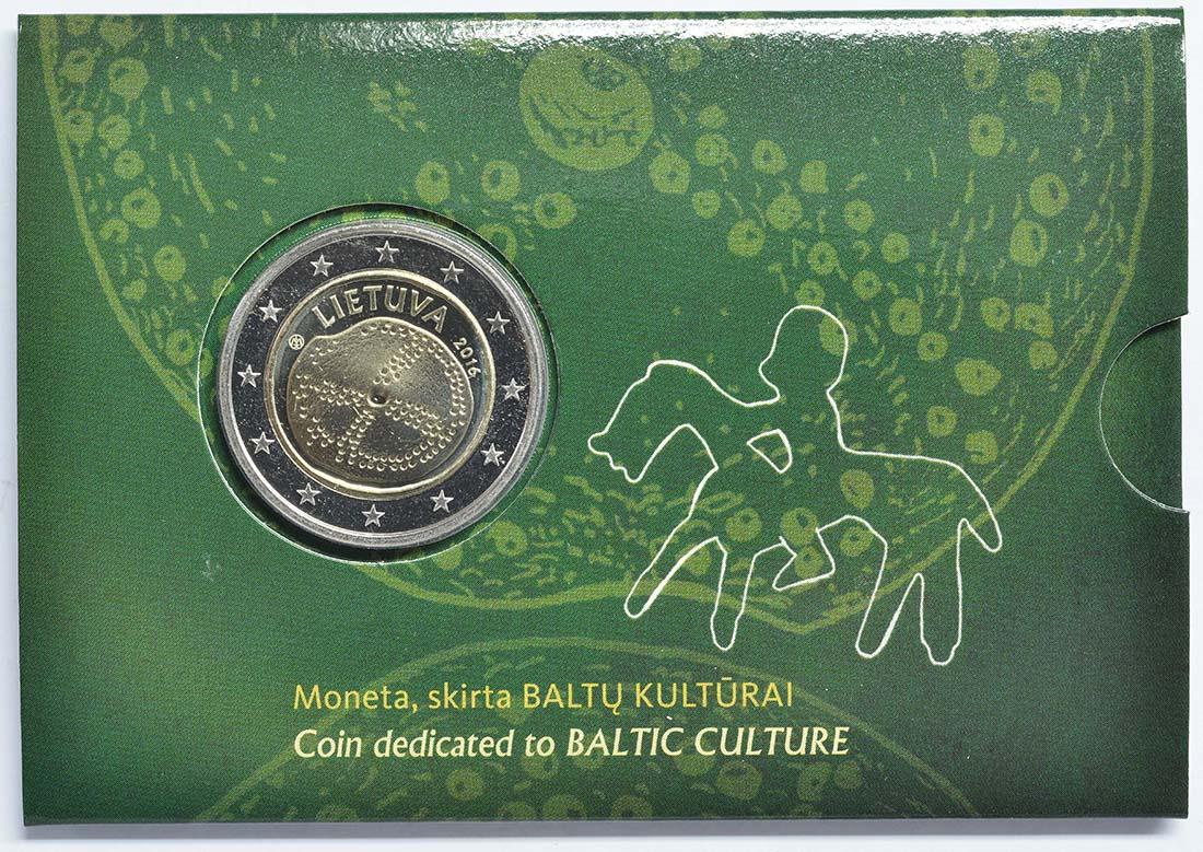 Lieferumfang:Litauen : 2 Euro Baltische Kultur  2016 Stgl.