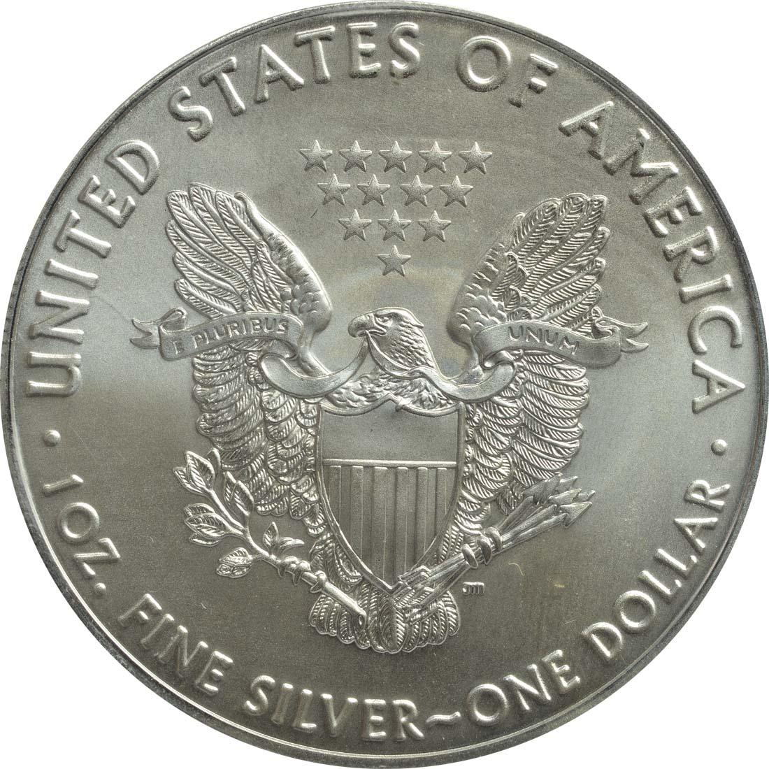 """Rückseite :USA : 1 Dollar Silber Eagle """"John Martin Frobisher""""  2016 Stgl."""