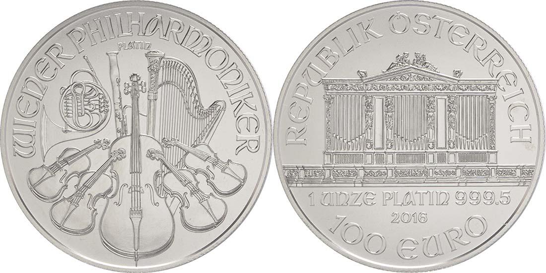 Lieferumfang:Österreich : 100 Euro Philharmoniker  2016 Stgl.