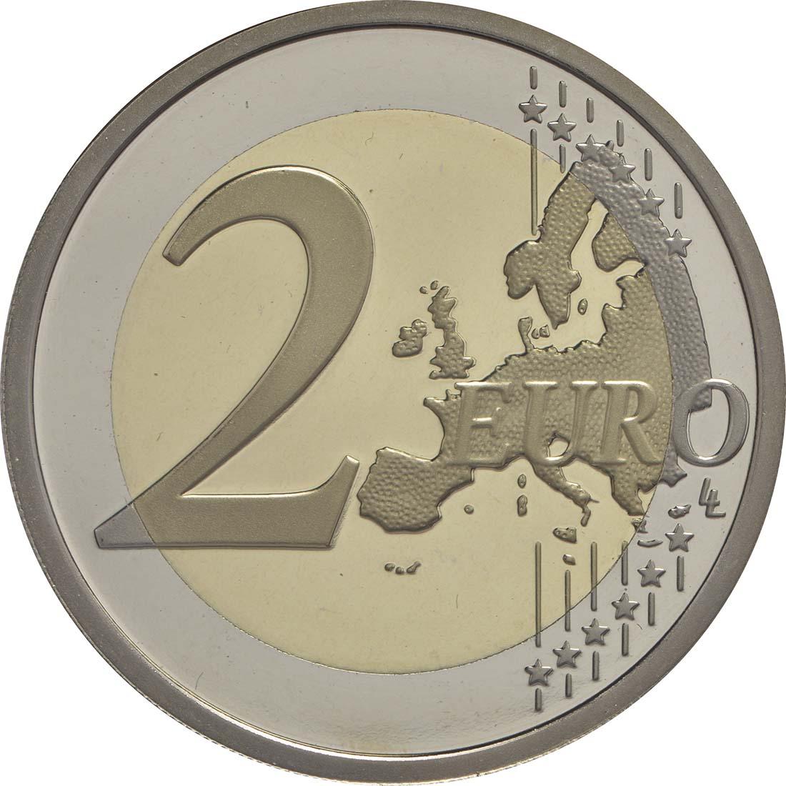 Vorderseite:Italien : 2 Euro 2200. Todestag von Titus Maccius Plautus  2016 PP