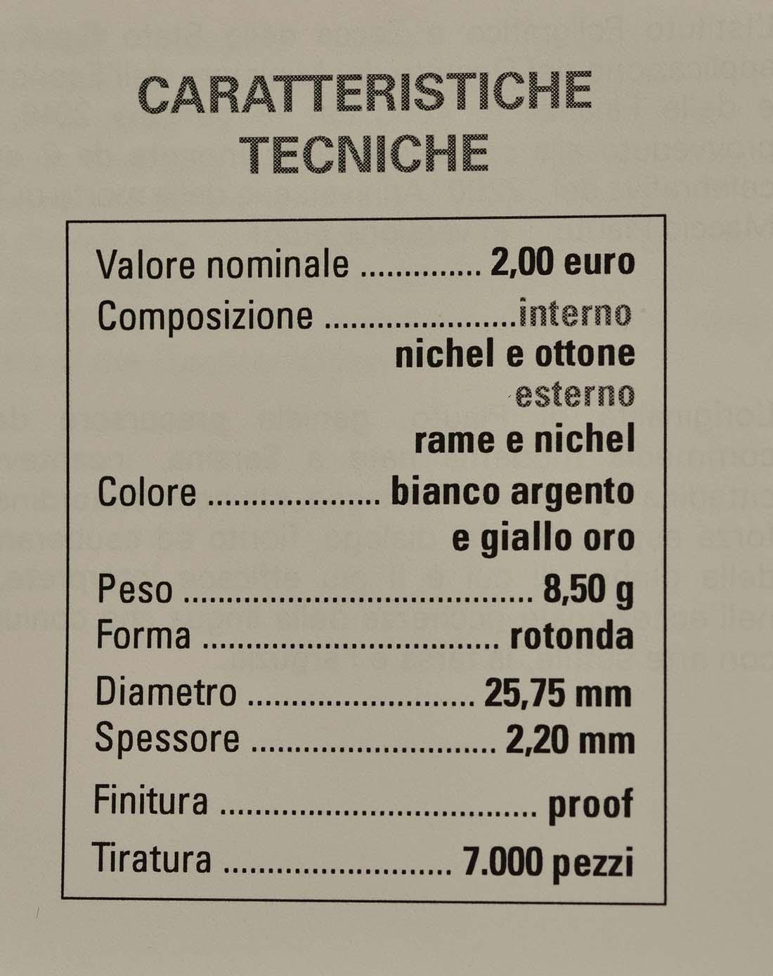 Zertifikat:Italien : 2 Euro 2200. Todestag von Titus Maccius Plautus  2016 PP
