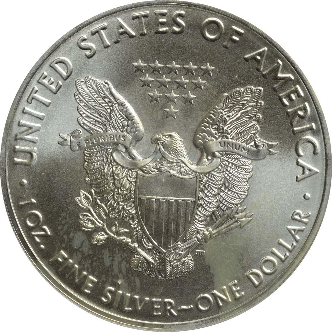 Rückseite :USA : 1 Dollar Silber Eagle - William E. Parry  2016 Stgl.