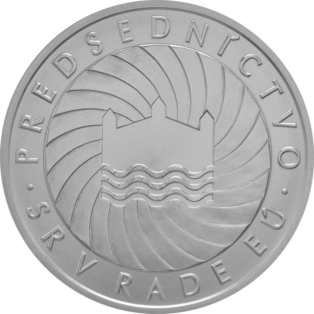 Vorderseite:Slowakei : 10 Euro EU-Präsidentschaft  2016 Stgl.