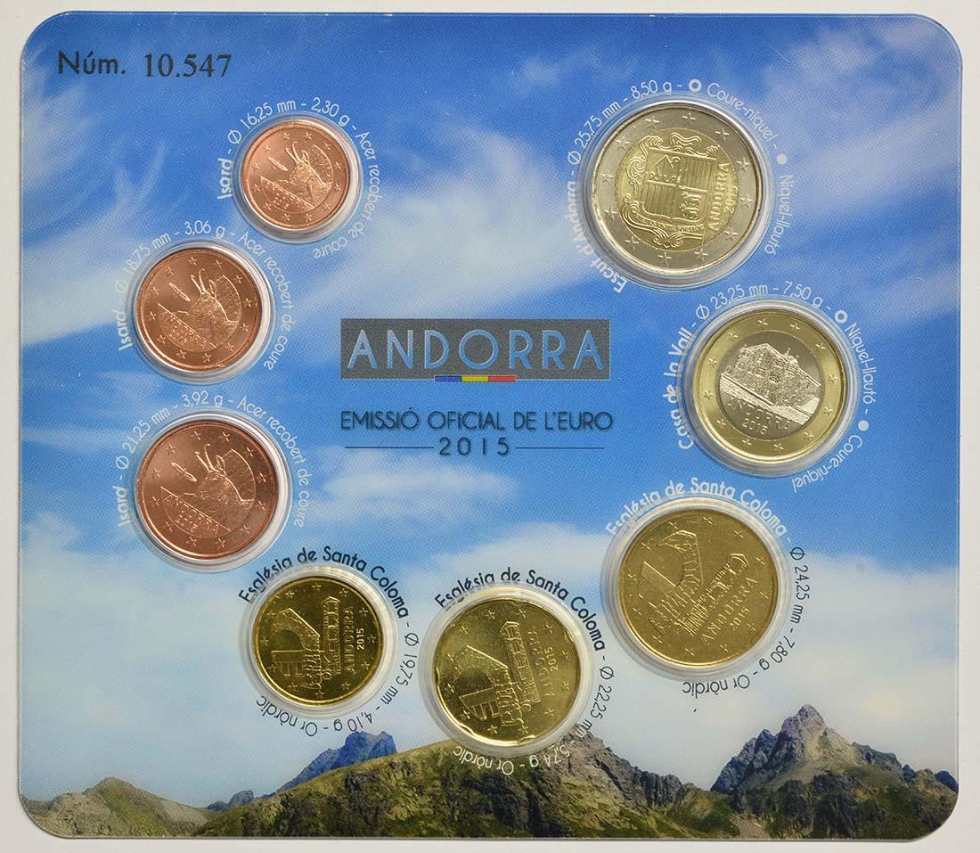 Vorderseite:Andorra : 3,88 Euro KMS Andorra  2015 bfr