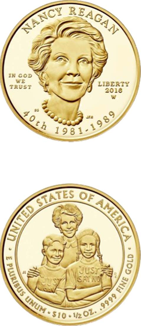 USA : 10 Dollar Präsidentengattinnen - Nancy Reagan  2016 PP