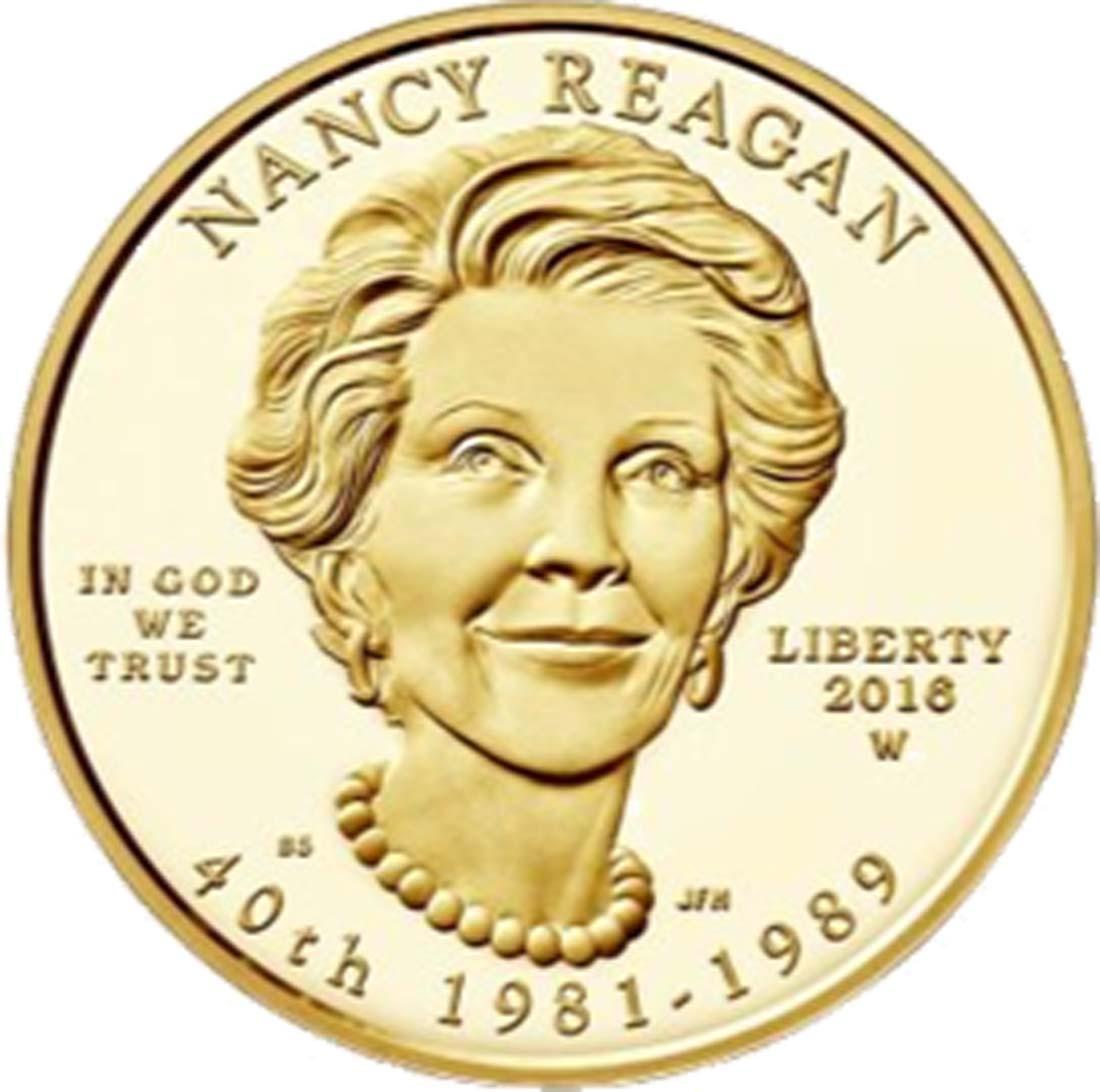 USA : 10 Dollar Präsidentengattinnen - Nancy Reagan  2016 Stgl.