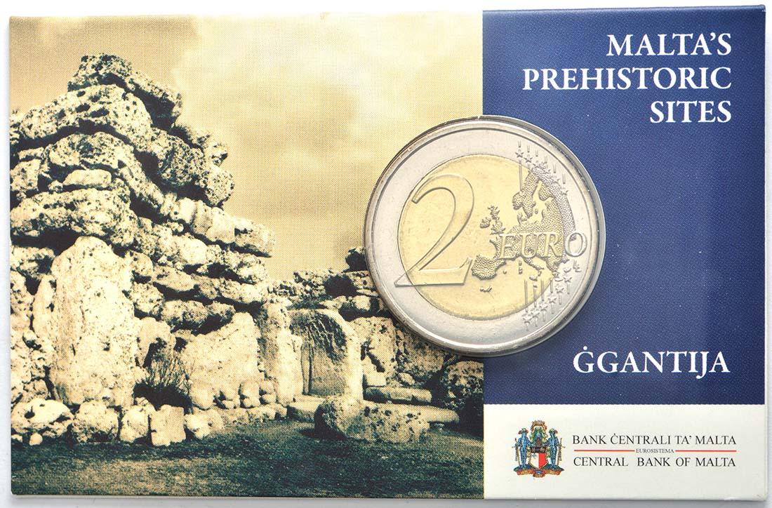 Malta : 2 Euro Ggantija Tempelanlage auf Gozo  2016 bfr