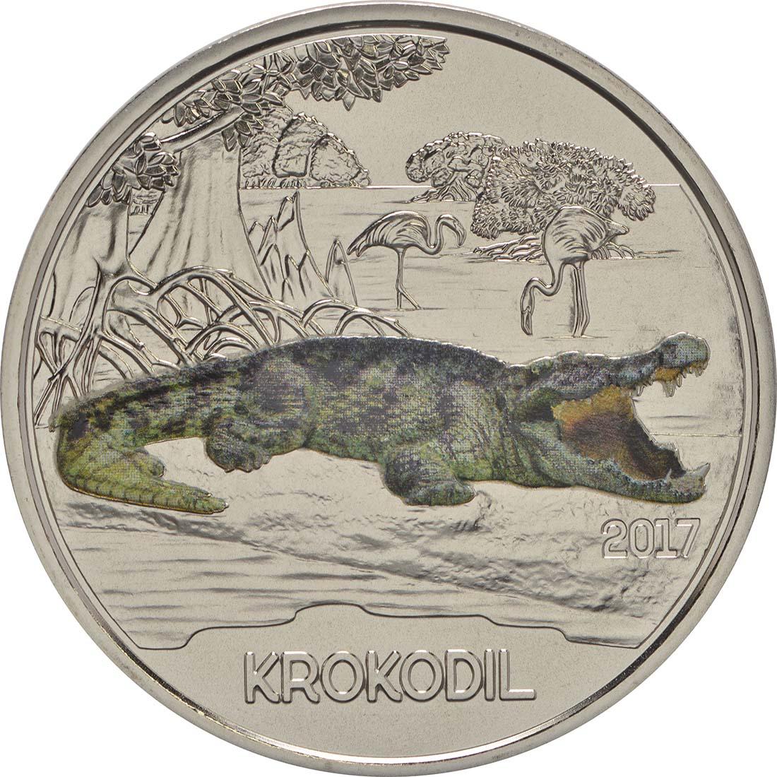 Vorderseite :Österreich : 3 Euro Krokodil 3/12  2017 Stgl.
