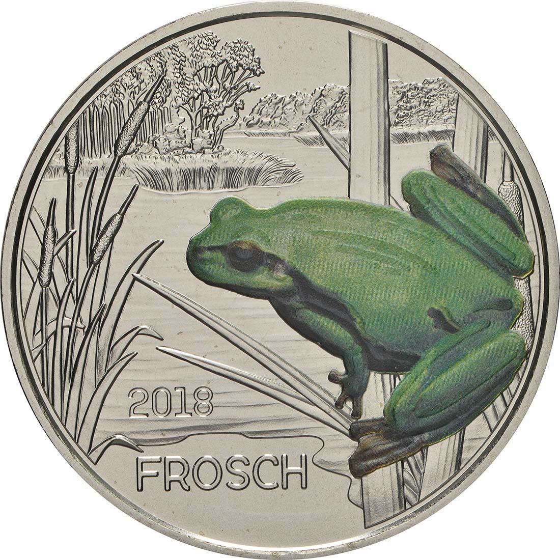 Vorderseite:Österreich : 3 Euro Frosch 9/12  2018 Stgl.