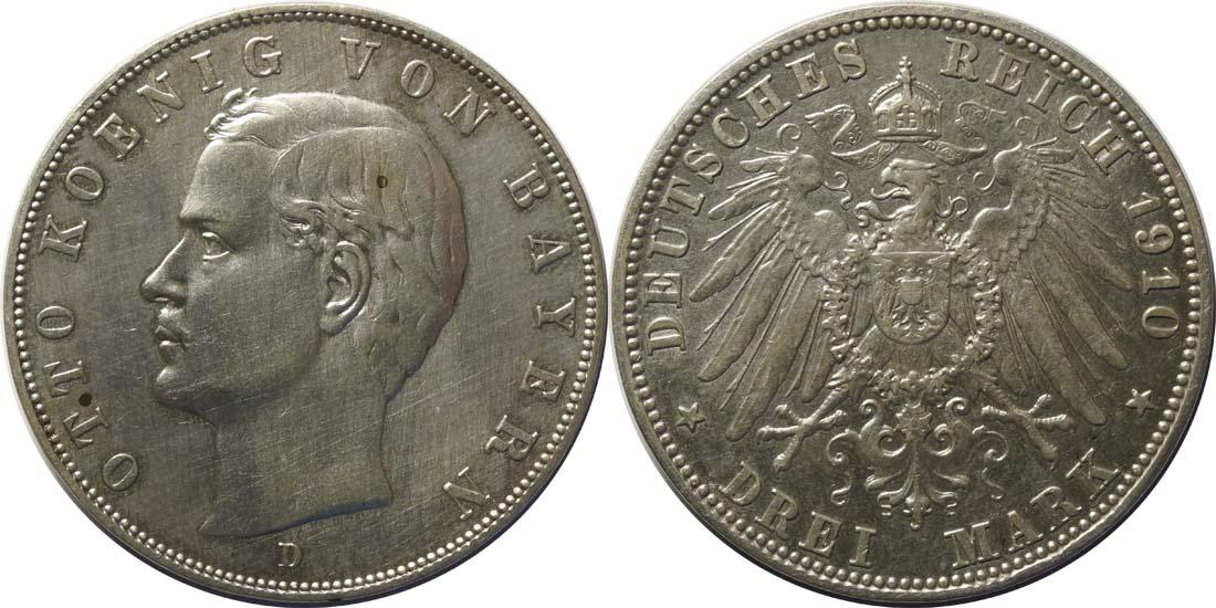 Übersicht:Deutschland : 3 Mark Otto  1910 ss.