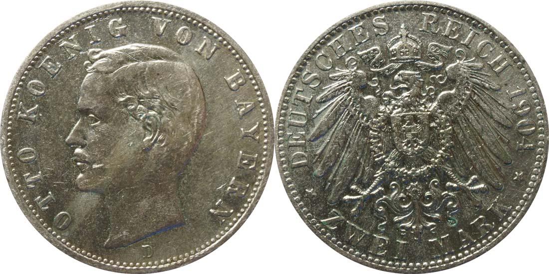 Deutschland : 2 Mark Otto  1904 ss.