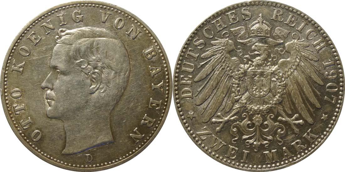 Lieferumfang:Deutschland : 2 Mark Otto  1907 ss.