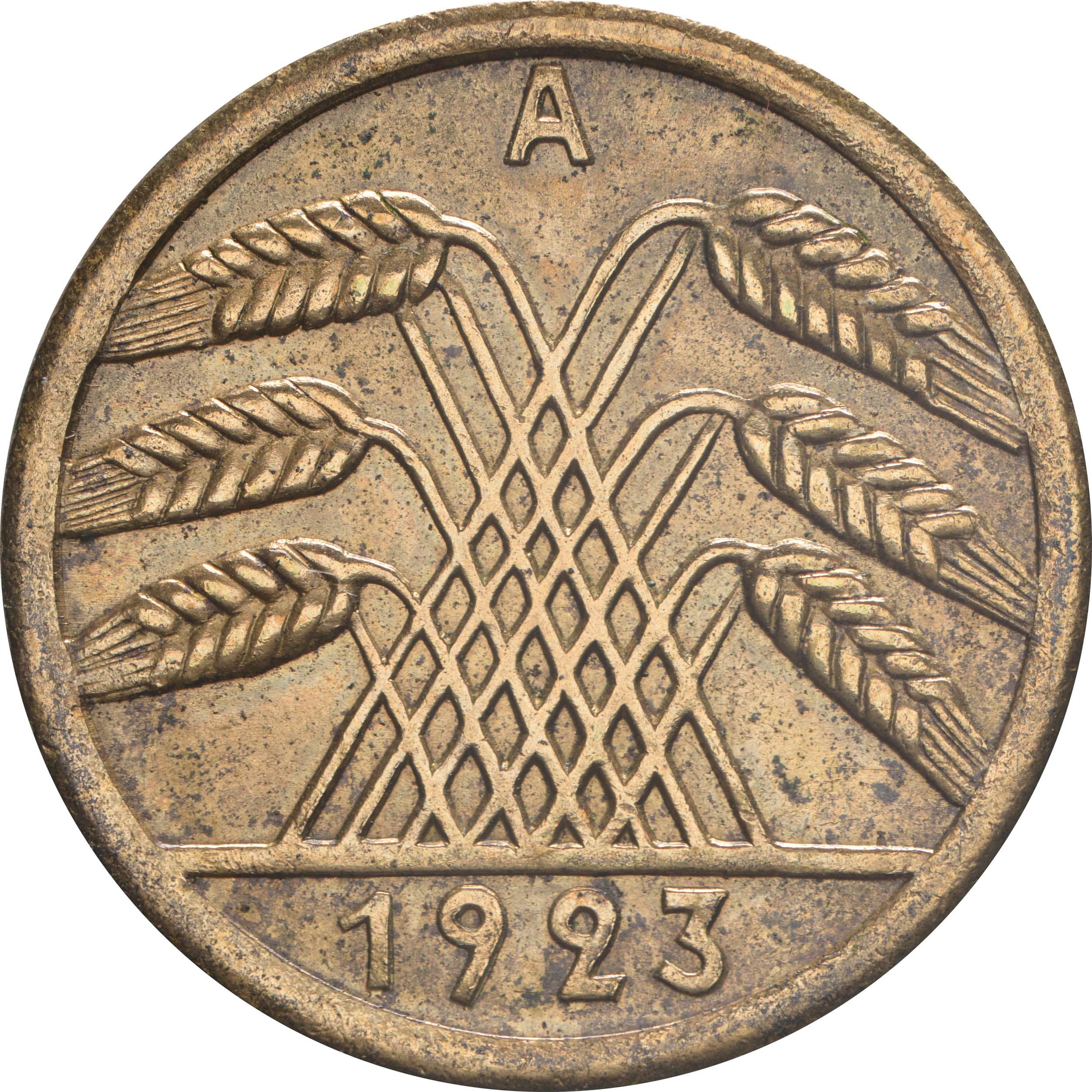 Rückseite :Deutschland : 50 Rentenpfennig Kursmünze  1923 ss/vz.