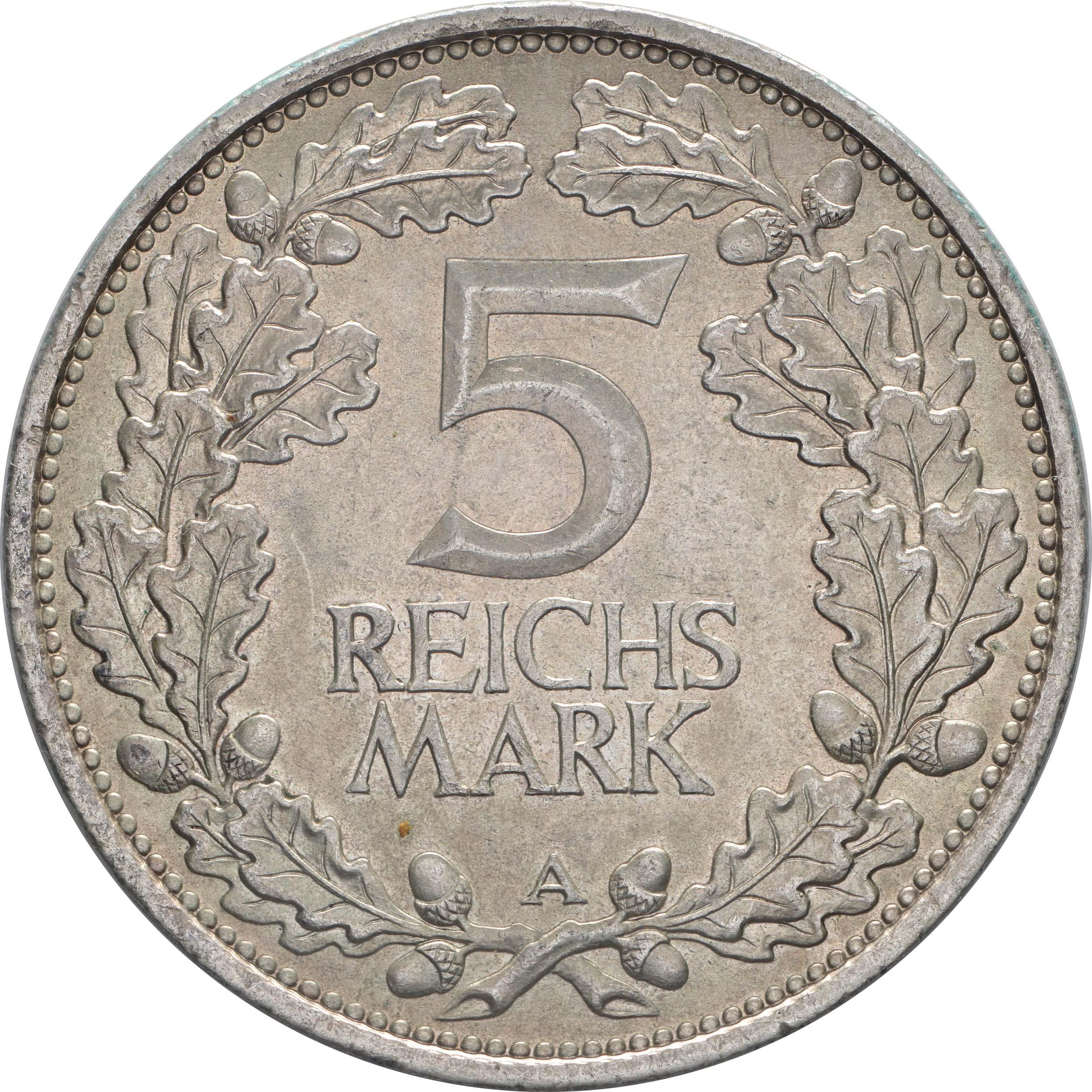Vorderseite:Deutschland : 5 Reichsmark Rheinlande  1925 vz.