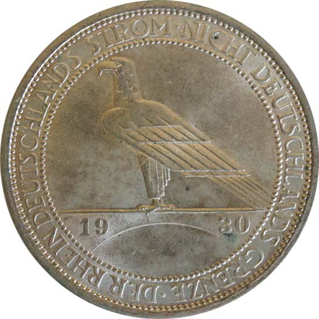 deutschland 3 reichsmark rheinlandraeumung 1930 a silber vz stgl euro. Black Bedroom Furniture Sets. Home Design Ideas