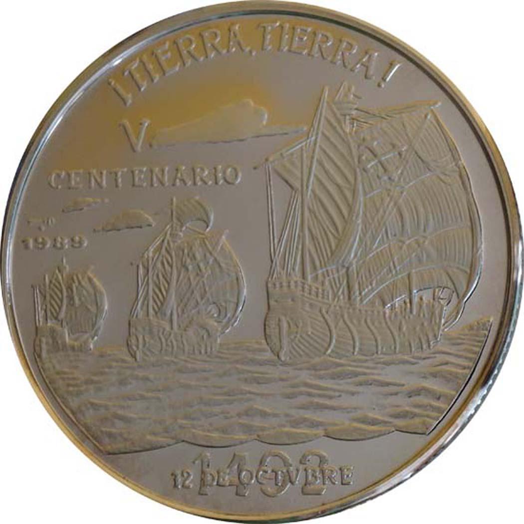 Vorderseite :Kuba : 10 Pesos Discovery of America  1989 PP