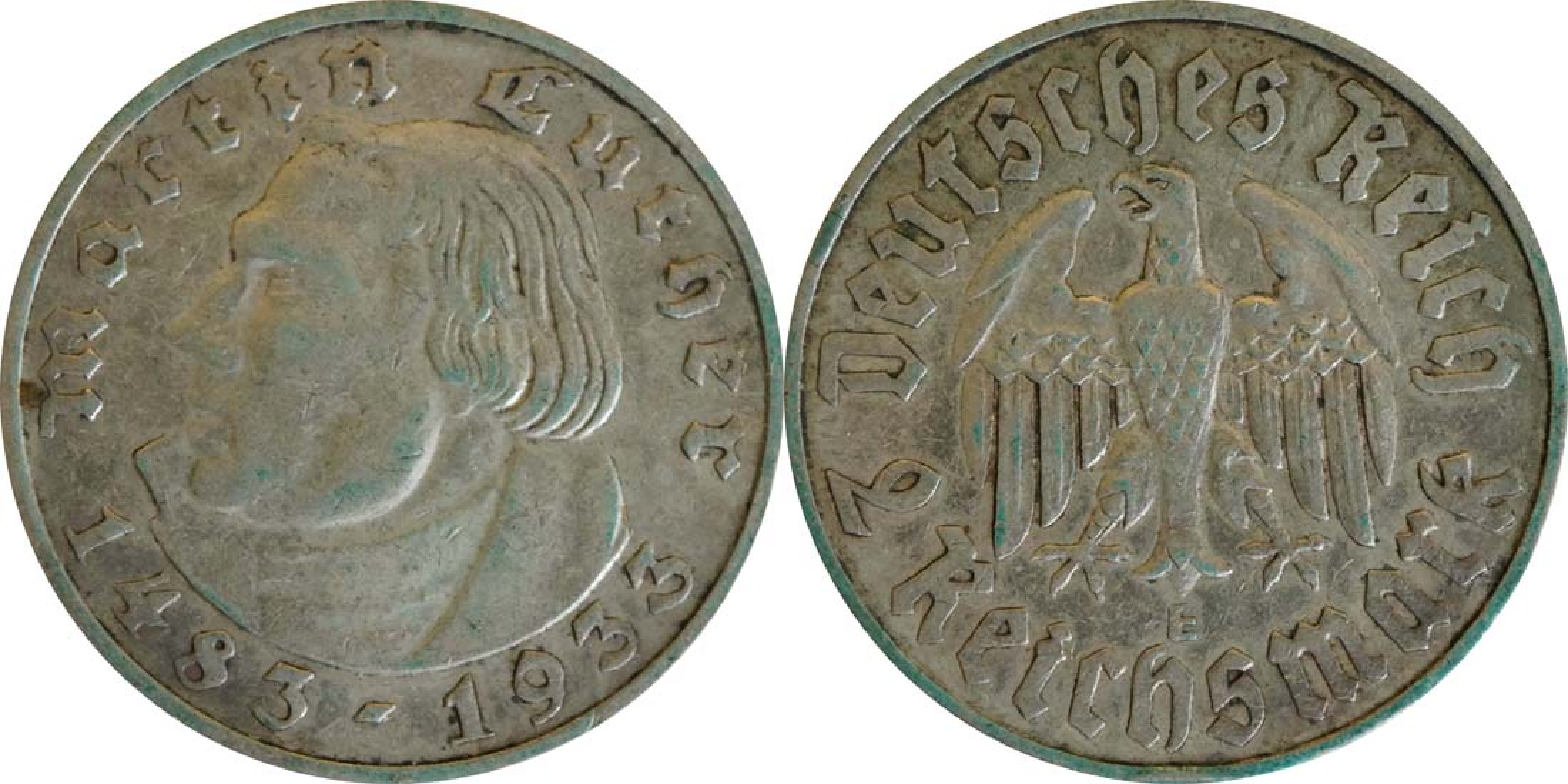 Deutschland : 2 Reichsmark Luther patina 1933 ss.