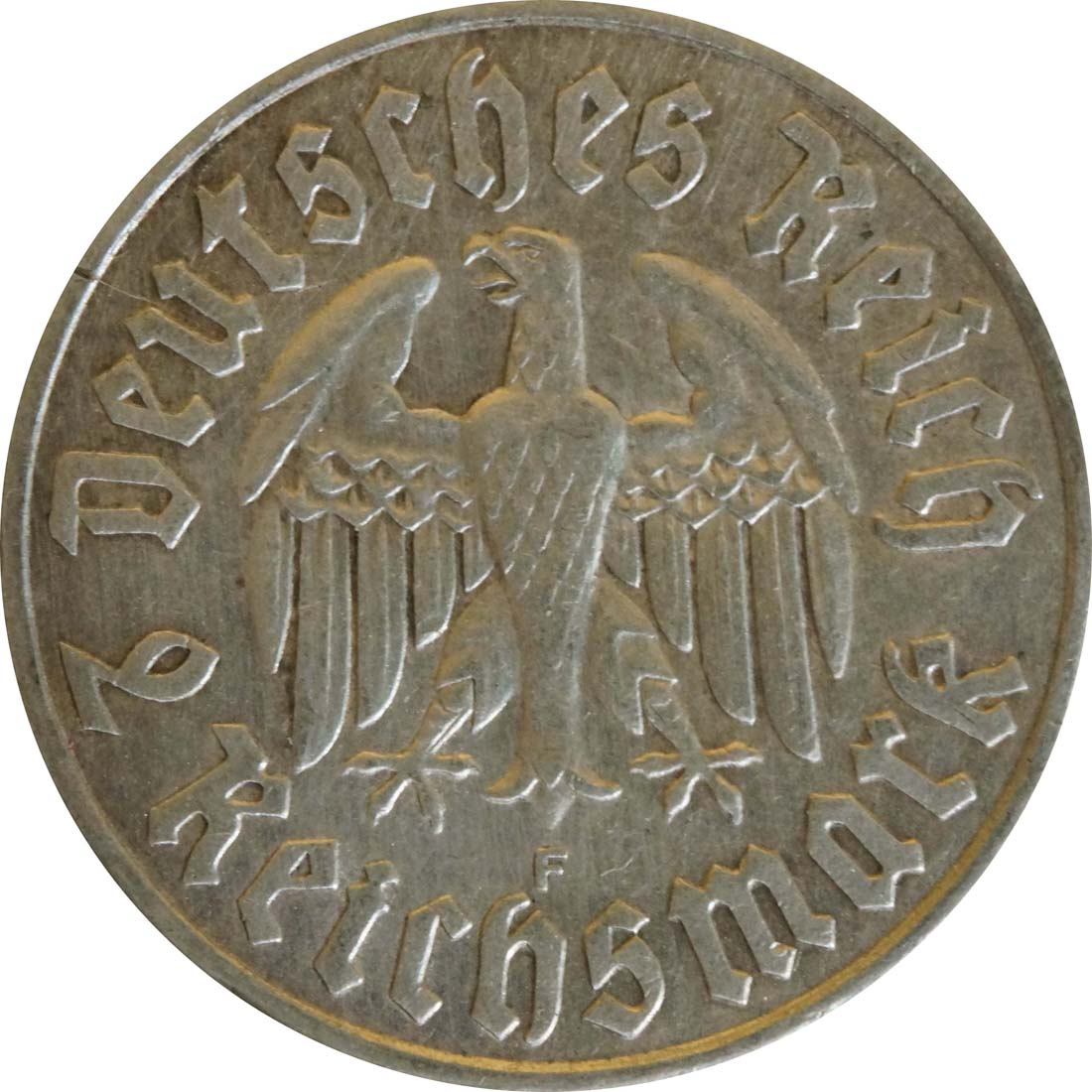 Rückseite:Deutschland : 2 Reichsmark Luther  1933 f.vz.