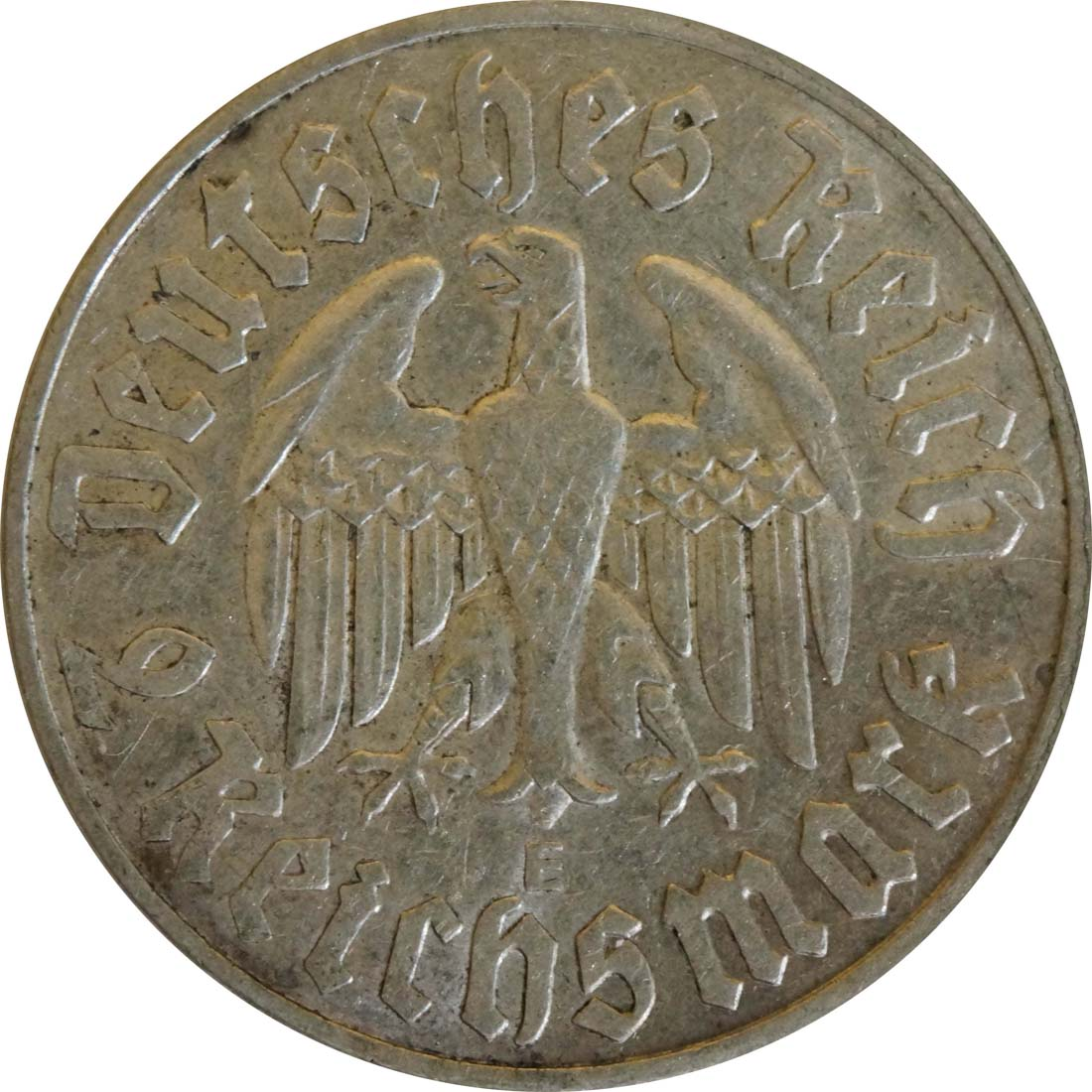 Bild der Rückseite :Deutschland - 2 Reichsmark Luther  1933 ss/vz.